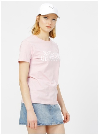 National Geographic National Geographic Açık Pembe T-Shirt Pembe
